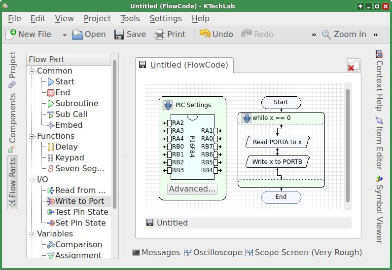 Editing flowcode